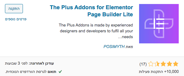 the Plus Addons